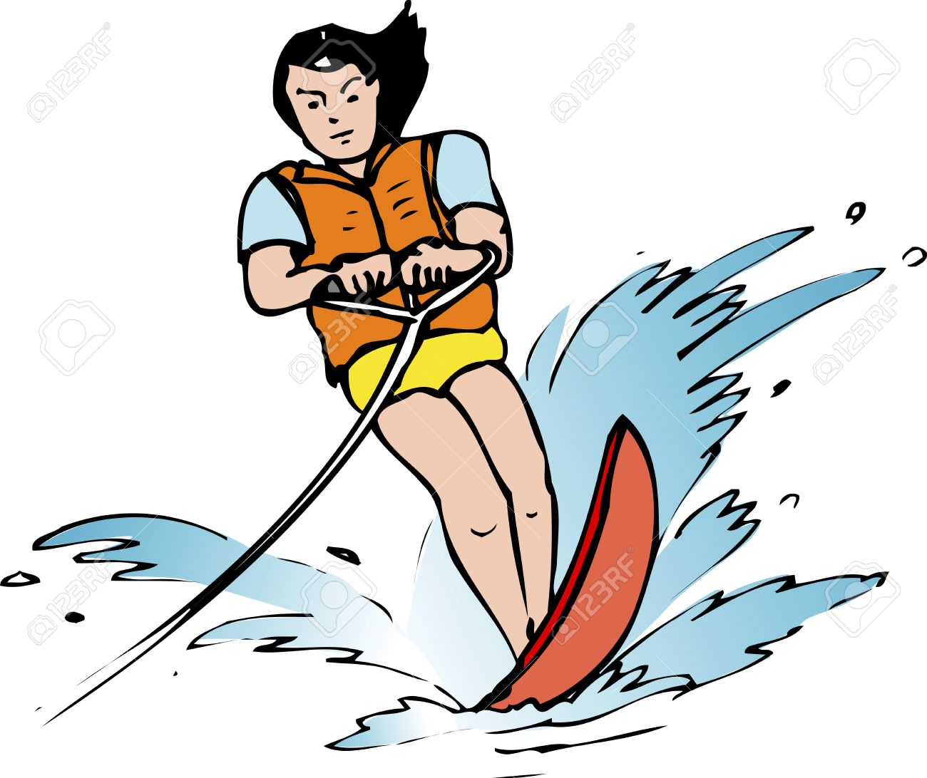 Water skiig clipart png free Water skiing clipart 5 » Clipart Station png free