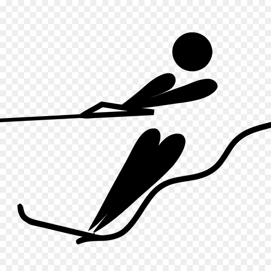 Water skiig clipart clip free Water Cartoon clipart - Skiing, Pictogram, Illustration ... clip free