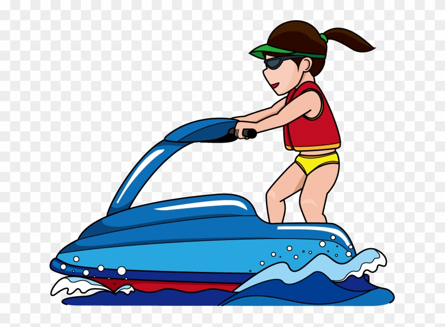 Water skiig clipart picture freeuse Jet Ski Clipart - Jet Skiing Clipart - Png Download (#18379 ... picture freeuse