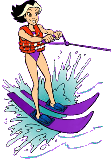 Water skiig clipart vector black and white library Water skiing clipart 2 » Clipart Portal vector black and white library