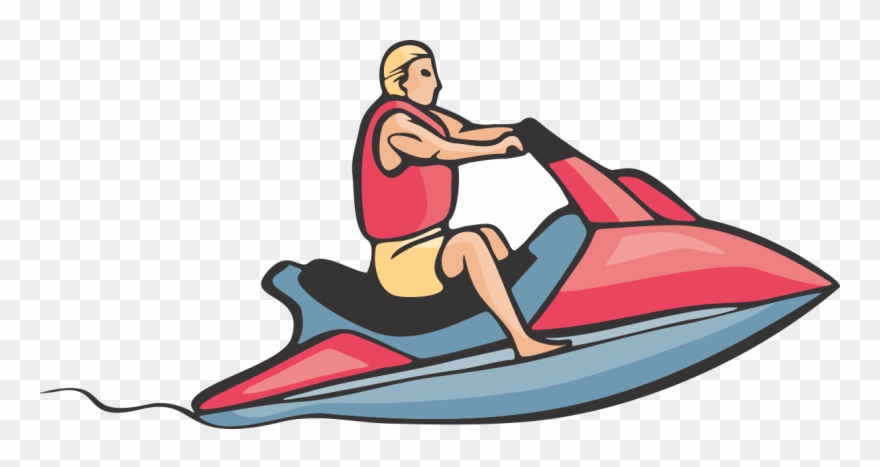 Water skiig clipart clipart royalty free library Nonsensical Jet Ski Clipart Personal Water Craft Sea ... clipart royalty free library