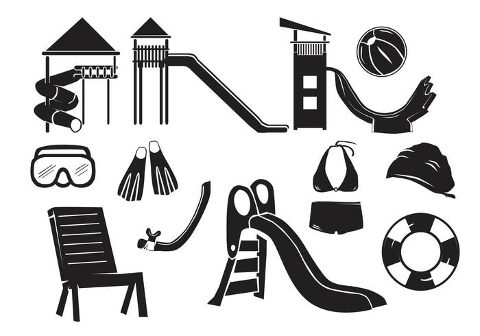 Water slide icon clipart svg black and white download Water Park Icon - Download Free Vectors, Clipart Graphics ... svg black and white download