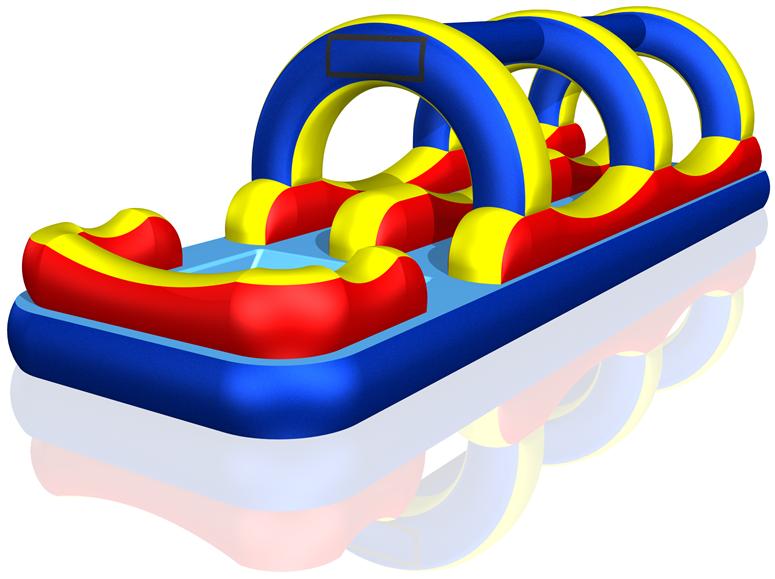 Water slip and slide clipart image download Wild Splash Inflatable Dual Lane Slip and Slide w/ Pool ... image download