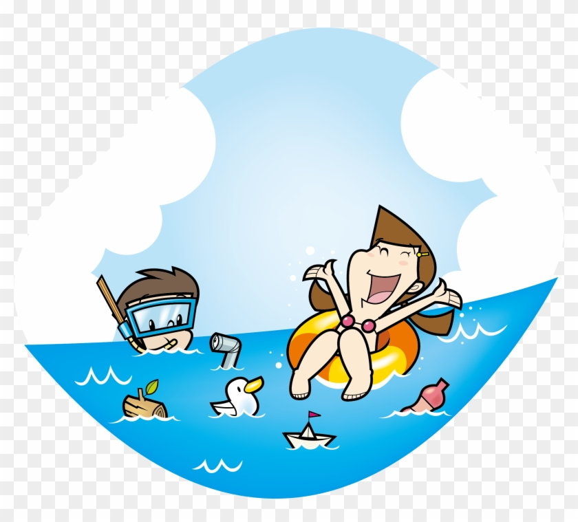 Water swimming clipart free graphic black and white Swimming Clip Art - Swim In The Sea Clipart - Free ... graphic black and white
