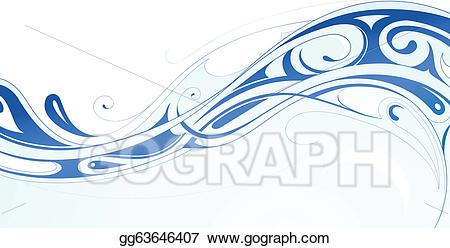 Water swirls clipart banner stock Vector Clipart - Water wave. Vector Illustration gg63646407 ... banner stock