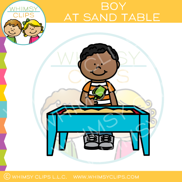 Sensory table clipart image library download Boy At Sand Table Clip Art image library download