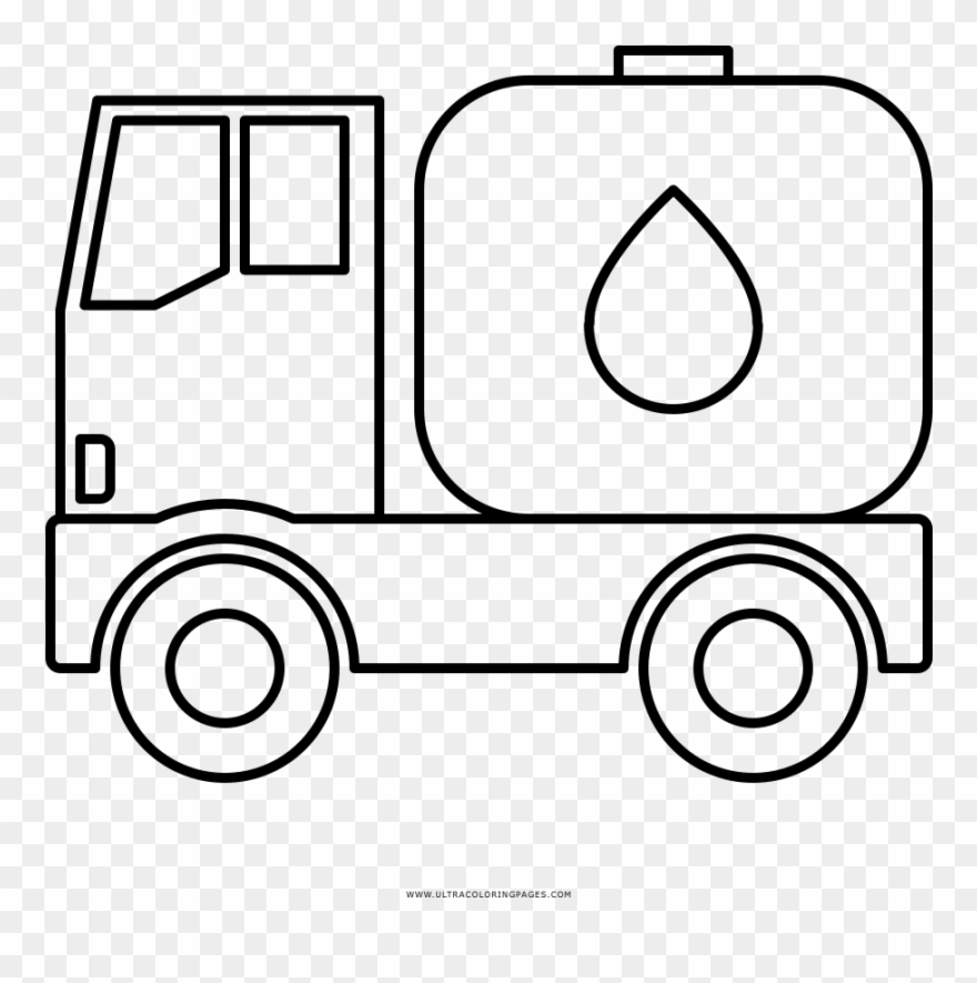 Water tanker clipart picture black and white stock Water Tank Truck Coloring Page - Oil Tanker Truck Drawings ... picture black and white stock