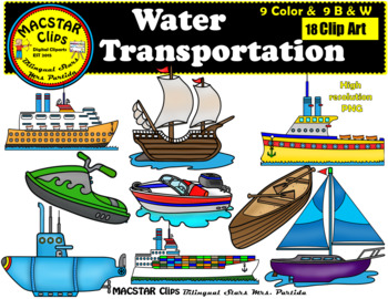 Water transport clipart images png black and white stock Water Transportation Clip Art Personal & Commercial Use 18 images Clip Arts png black and white stock