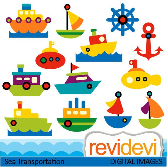 Water transport clipart images image royalty free Water transportation clipart sale, commercial use. Ship boat ... image royalty free