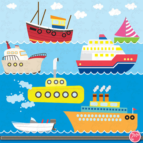Water transport clipart images picture black and white download Transportation clip art ,Cute Vehicles,Sea Vehicle transport ... picture black and white download