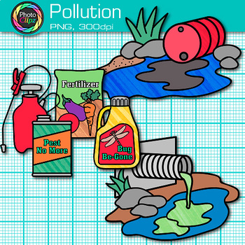 Water up to land clipart banner library download Pollution Clip Art {Earth Conservation of Land, Water, & Air, Science  Resources} banner library download