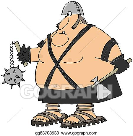 Water warrior clipart picture black and white download Stock Illustration - Giant warrior. Clipart gg63708538 - GoGraph picture black and white download