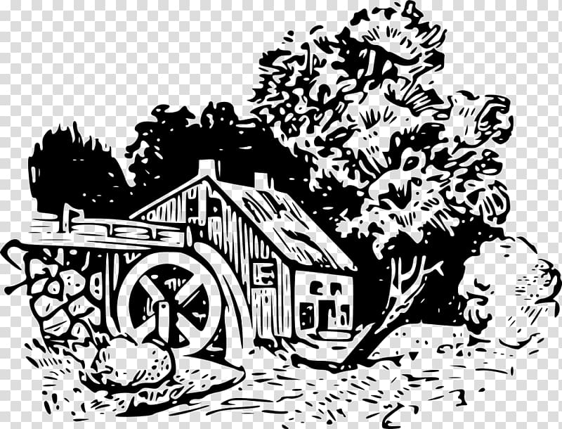 Water wheel mill clipart picture download Watermill Water wheel Windmill , mill transparent background ... picture download