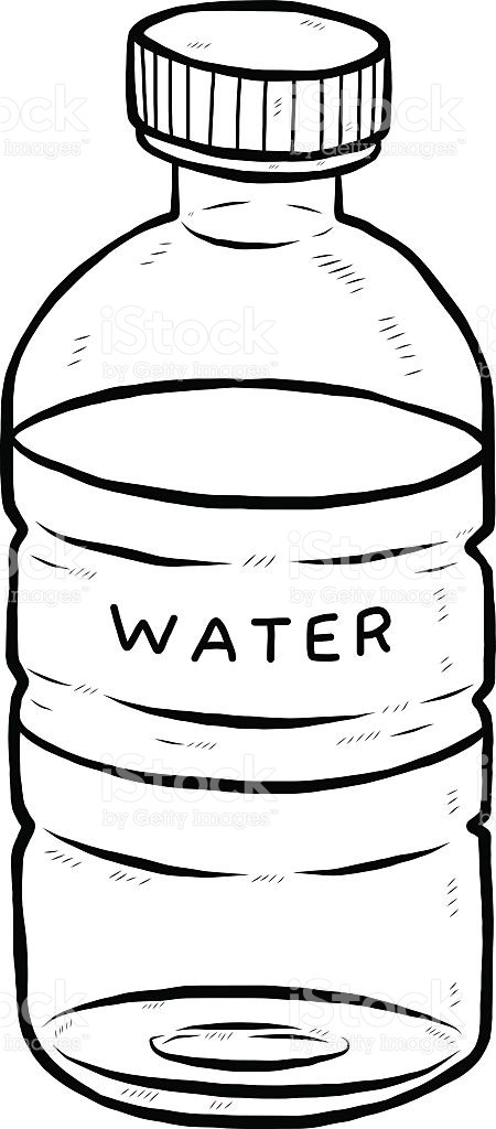 Waterbottle clipart black and white graphic Water bottle clipart black and white 4 » Clipart Portal graphic