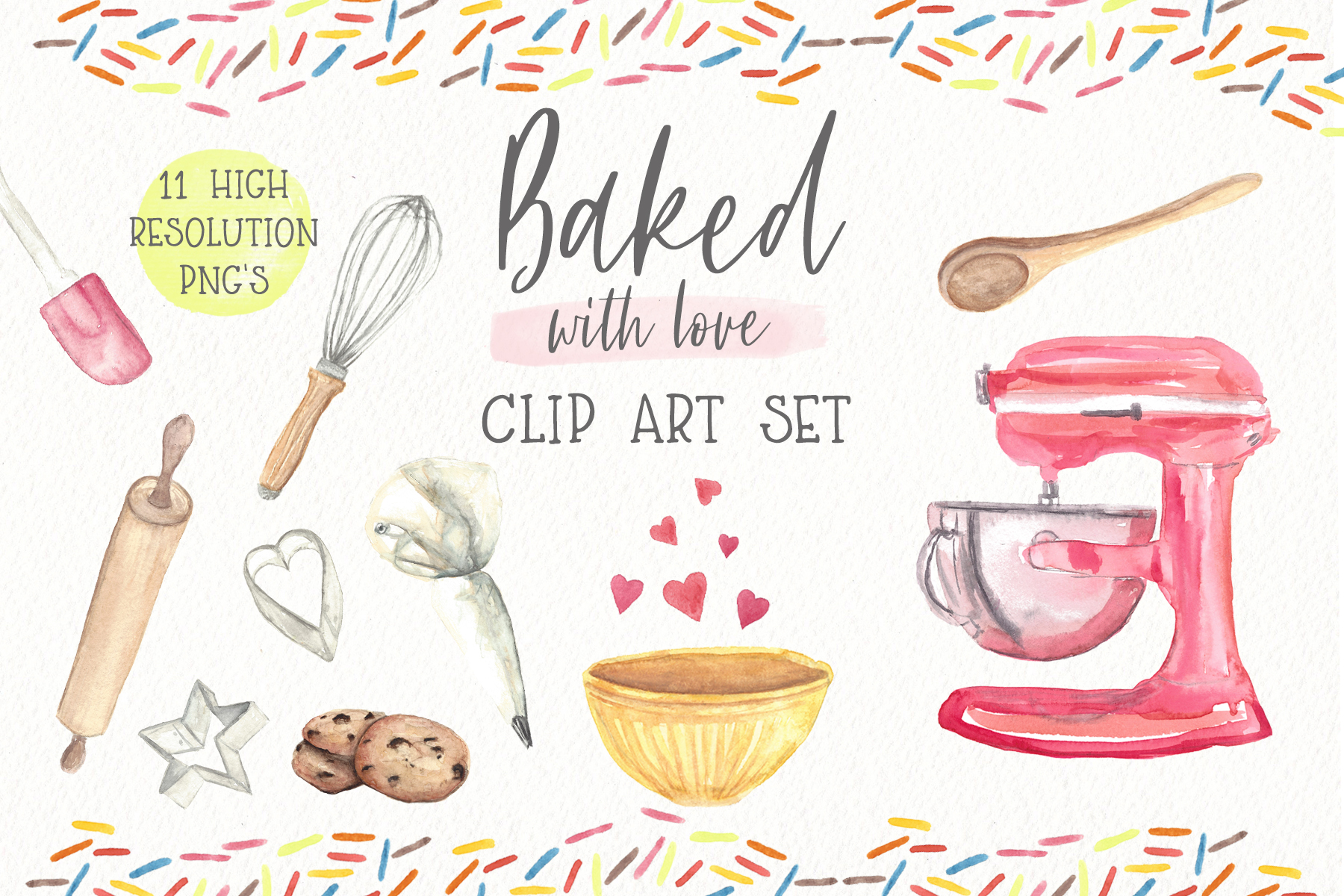 Watercolor baking clipart clipart freeuse stock Baking Watercolor Clipart clipart freeuse stock