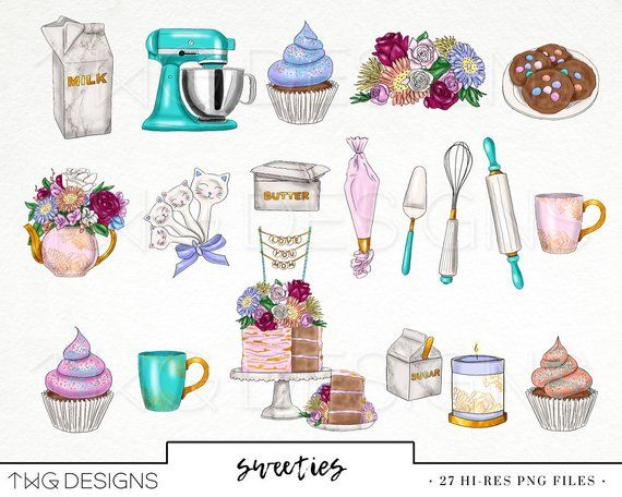 Library Of Watercolor Baking Clipart Free Download Png