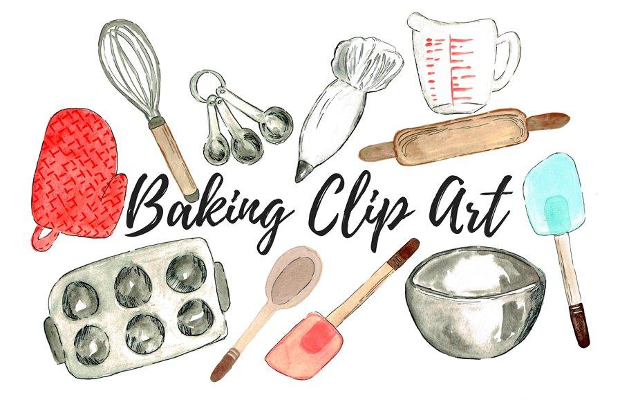 Watercolor baking clipart picture transparent download Watercolor Baking Clip Art picture transparent download