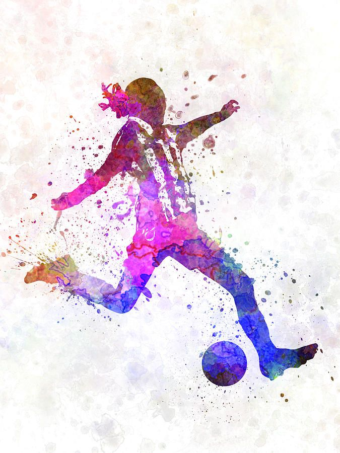 Watercolor baseball player clipart clipart Pin by Izzy on soccer clipart | Girl playing soccer, Soccer ... clipart