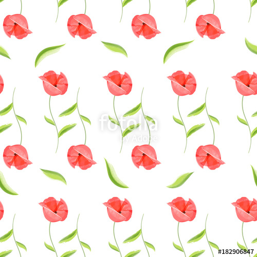 Watercolor bed sheets clipart picture library download Fresh watercolor red poppy seamless pattern. Flower colored ... picture library download