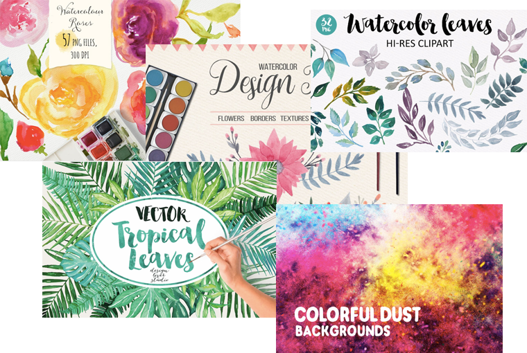 Watercolor book clipart graphic library library Web Design (And Fashion) Trends for Summer 2017 - Envato graphic library library