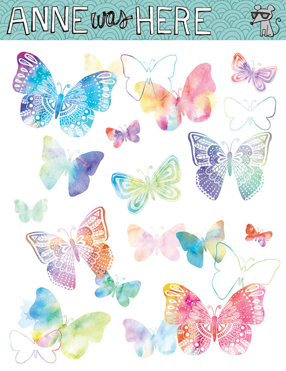 Watercolor butterfly free clipart image freeuse library Free butterfly clipart watercolor - ClipartFest image freeuse library
