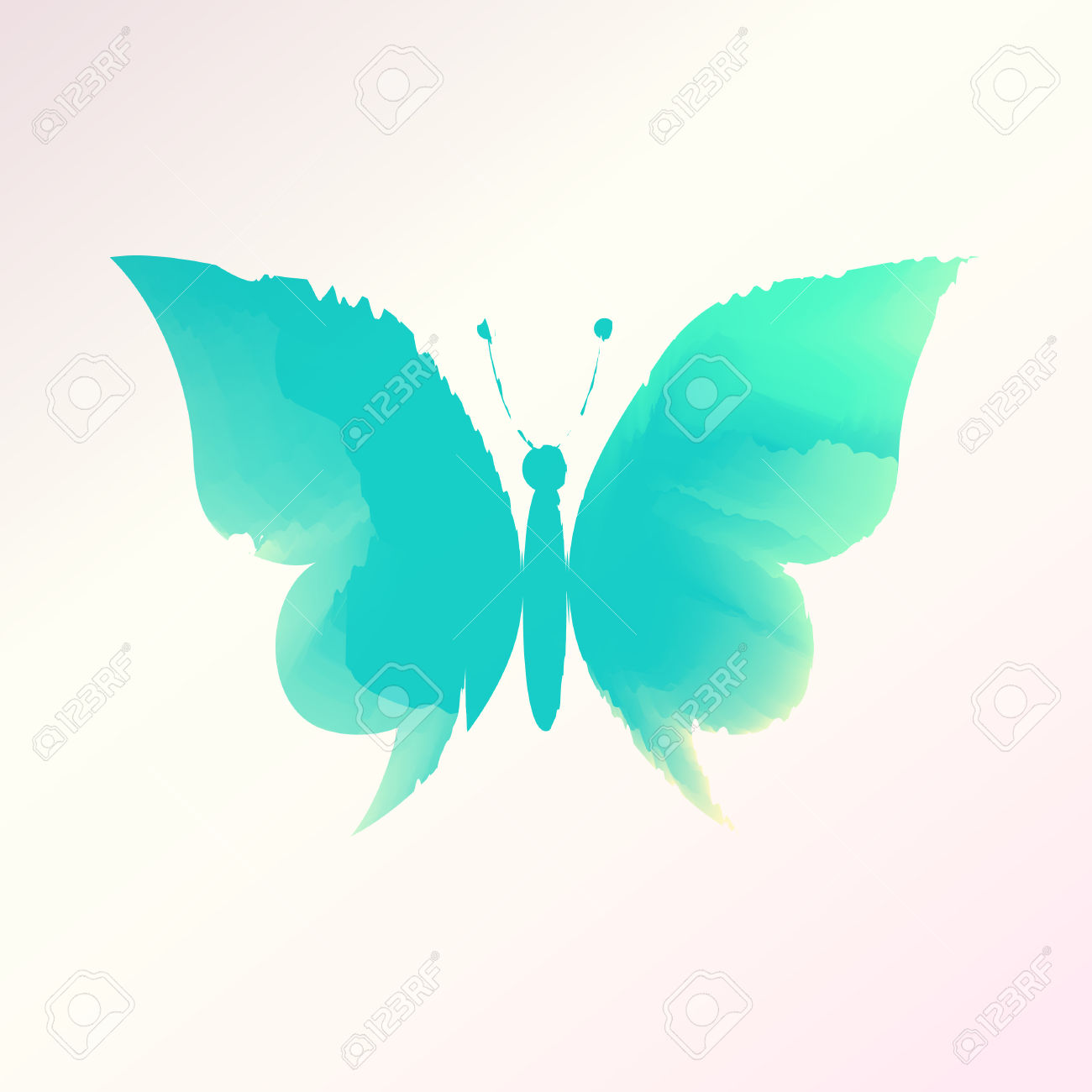 Watercolor butterfly free clipart image free stock Watercolor Butterfly Vector, Eps 10 Royalty Free Cliparts, Vectors ... image free stock