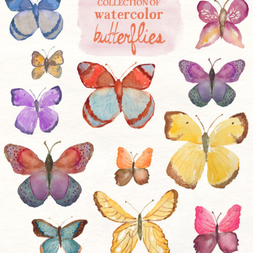 Watercolor butterfly free clipart clipart download Watercolor Peonies clipart download