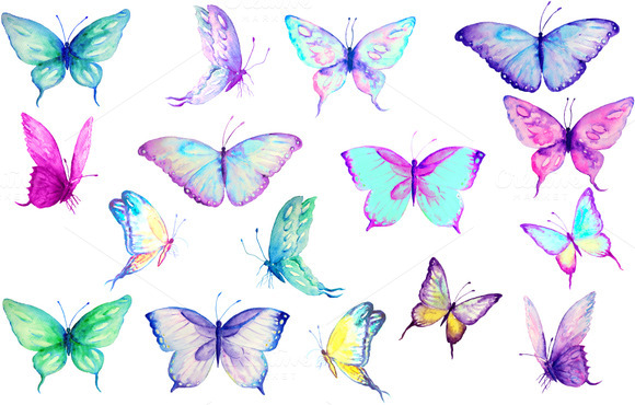 Watercolor butterfly free clipart png black and white library Free butterfly watercolor clipart - ClipartFest png black and white library