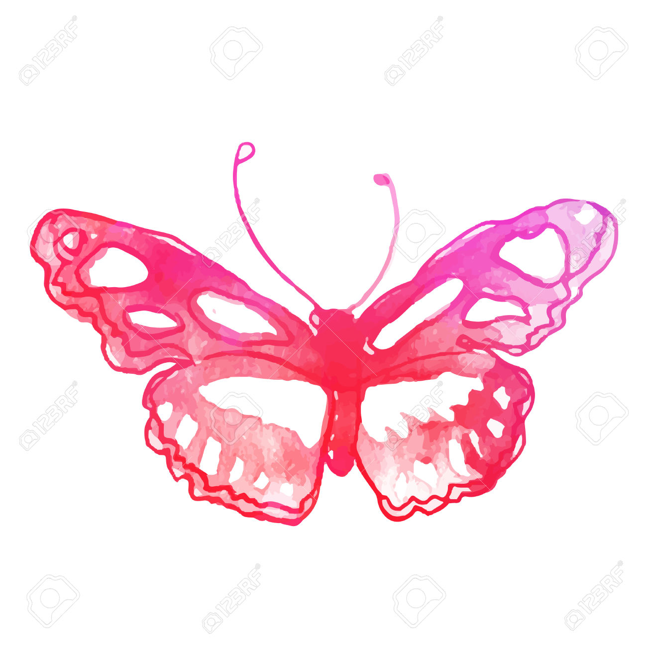 Watercolor butterfly free clipart image stock Watercolor butterfly free clipart - ClipartFest image stock