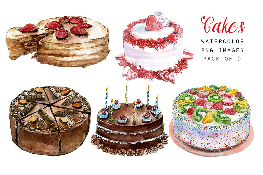 Watercolor cake clipart png png royalty free Watercolor cakes clipart png royalty free