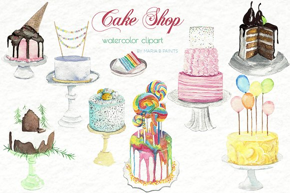 Watercolor cake clipart png graphic black and white Watercolor cake clipart 6 » Clipart Station graphic black and white