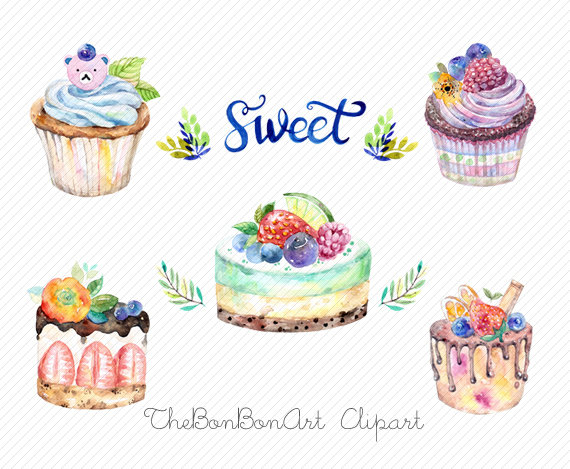 Watercolor cake clipart png vector library library watercolor clipart. watercolor cake. Bakery Clipart. cupcake ... vector library library