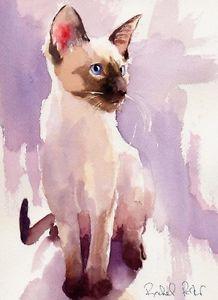 Watercolor chocolate siamese clipart clip art black and white Siamese Cat Watercolor at PaintingValley.com | Explore ... clip art black and white