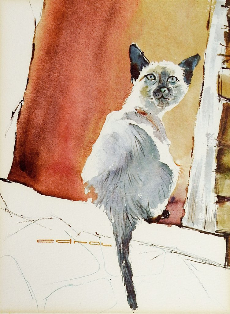 Watercolor chocolate siamese clipart png royalty free Siamese Cat Watercolor at PaintingValley.com | Explore ... png royalty free