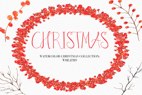 Watercolor christmas wreath clipart clipart transparent stock Watercolor Christmas Wreath Clipart clipart transparent stock