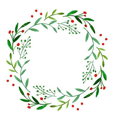 Watercolor christmas wreath clipart image freeuse stock Watercolor wreath vector | Watercolor Inspo | Wreath ... image freeuse stock