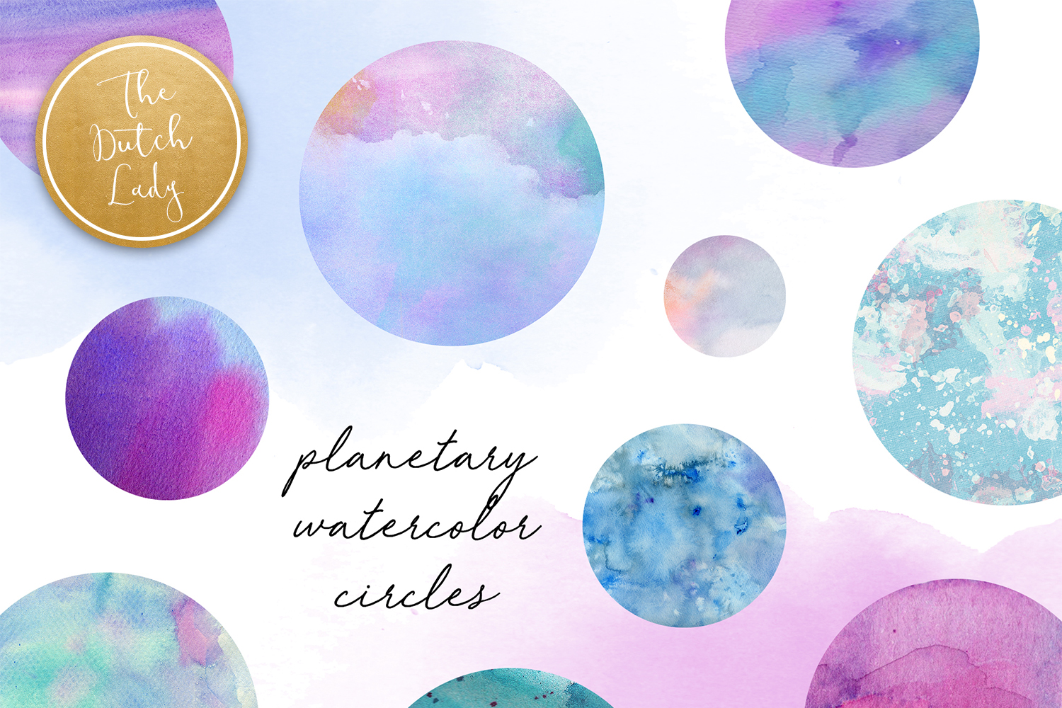 Watercolor circle clipart graphic library download Watercolor Planetary Circle Clipart - Vsual graphic library download