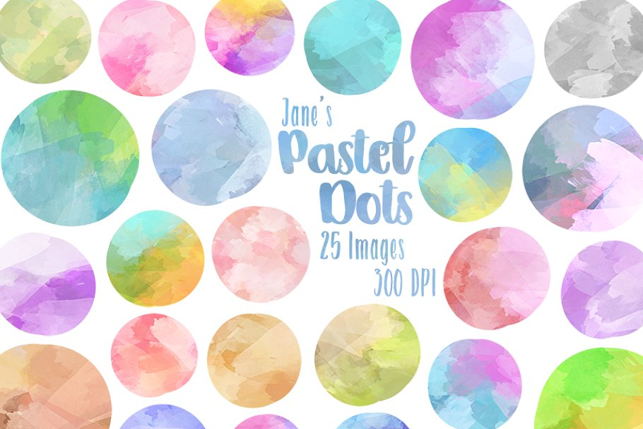 Watercolor circle clipart clipart black and white stock Watercolor Pastel Circles Clipart clipart black and white stock