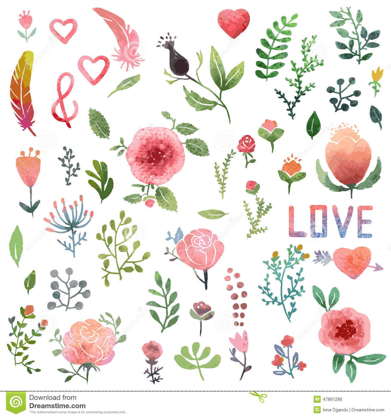 Watercolor clipart clipart black and white library Watercolor Clipart | Clipart Panda - Free Clipart Images clipart black and white library