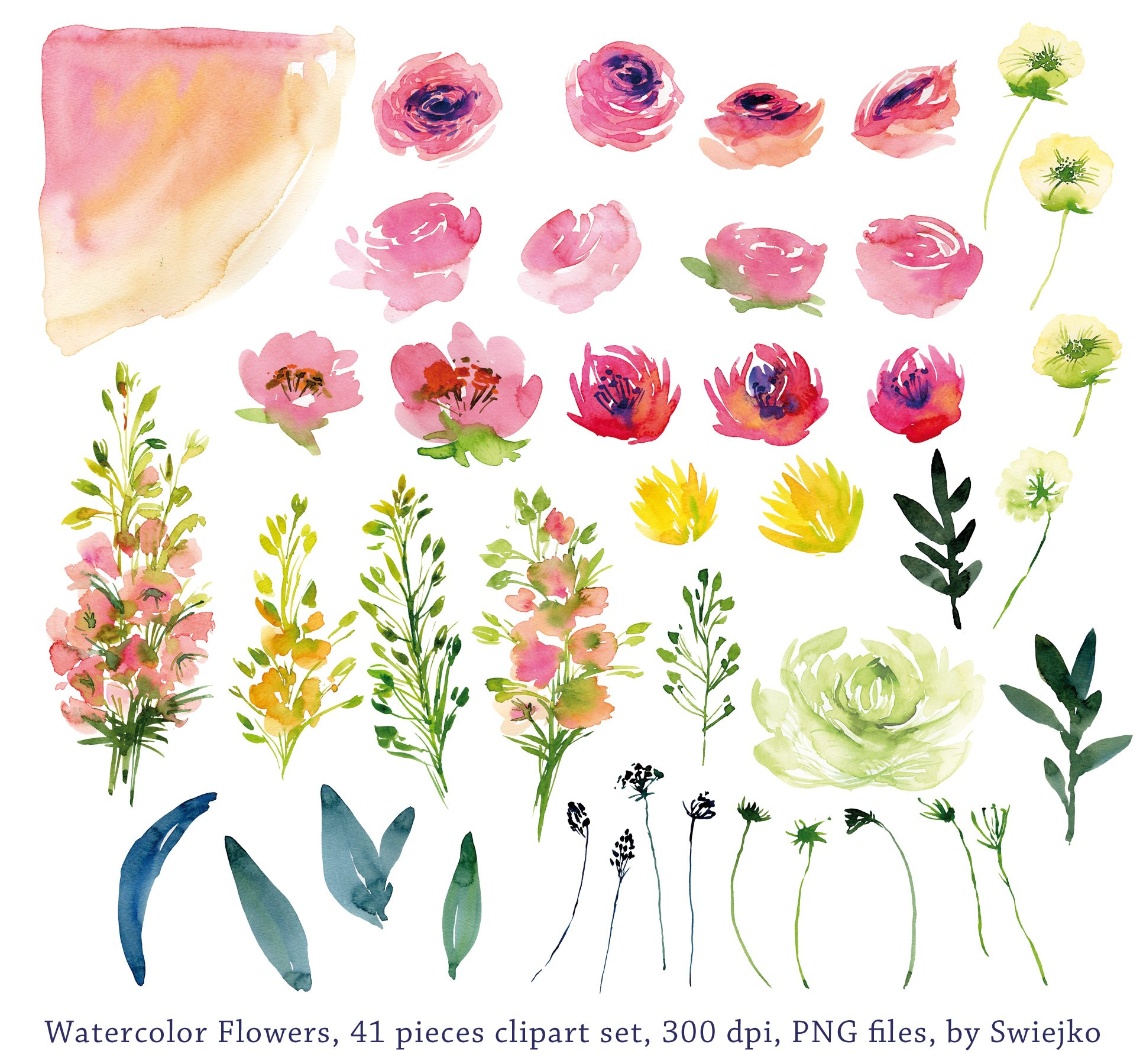 Watercolor clipart transparent library Garden watercolor clipart - ClipartFest transparent library