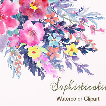 Watercolor clipart clip black and white download Watercolor clipart flower - ClipartFest clip black and white download