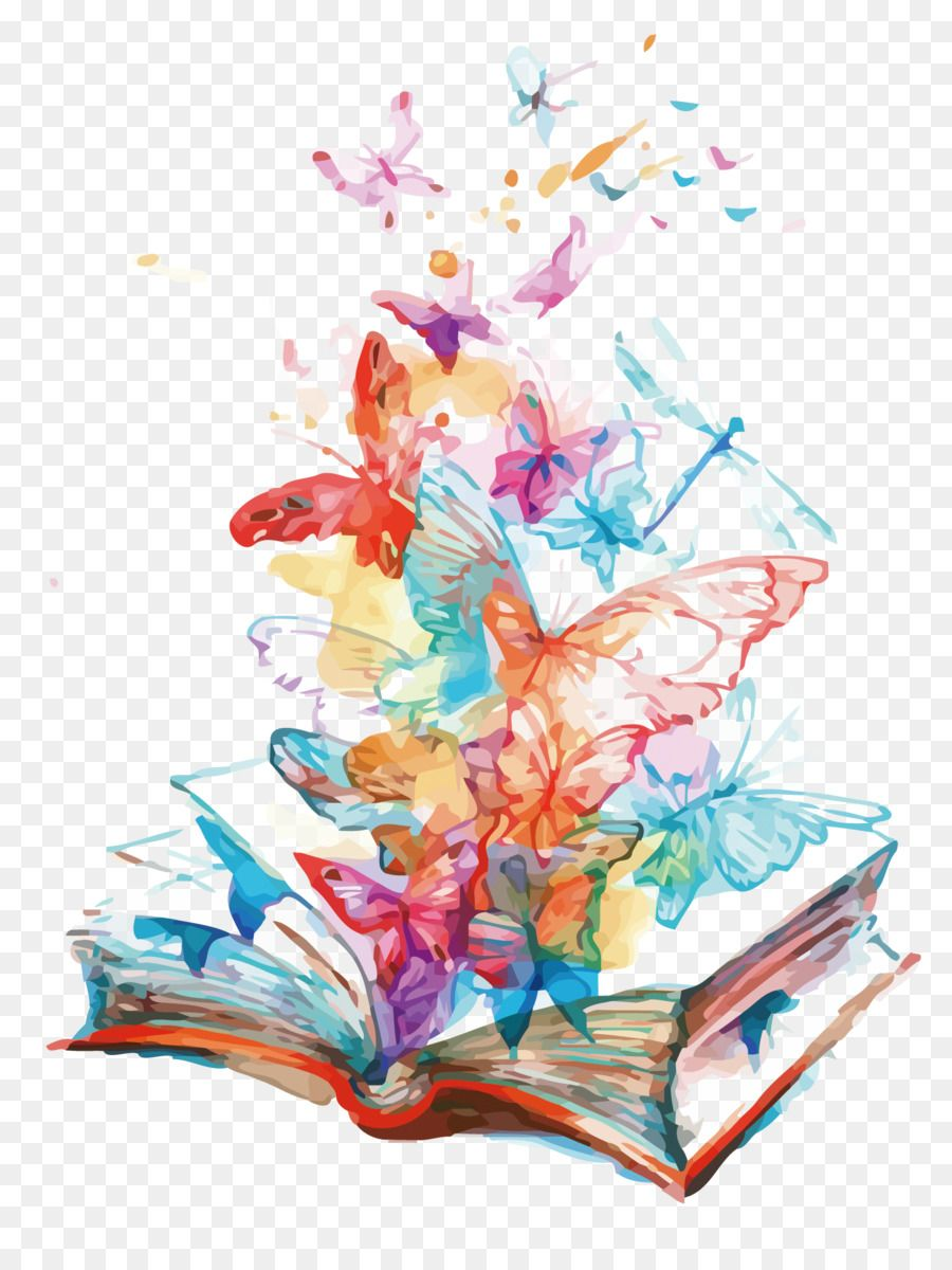 Watercolor clipart book kisspng svg black and white library Butterfly AllPosters.com Book - Vector book fly butterfly ... svg black and white library