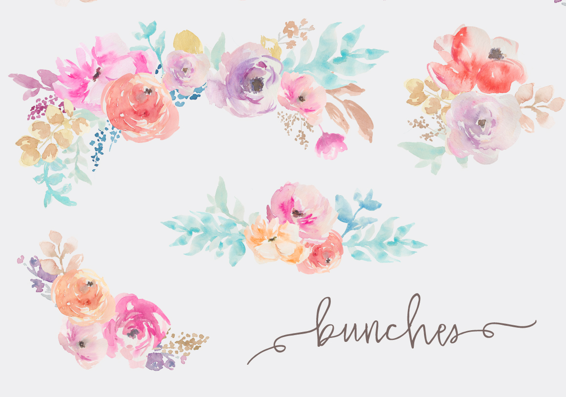 Watercolor clipart flower clip art royalty free stock Flower Watercolor Clipart - Cliparts and Others Art Inspiration clip art royalty free stock