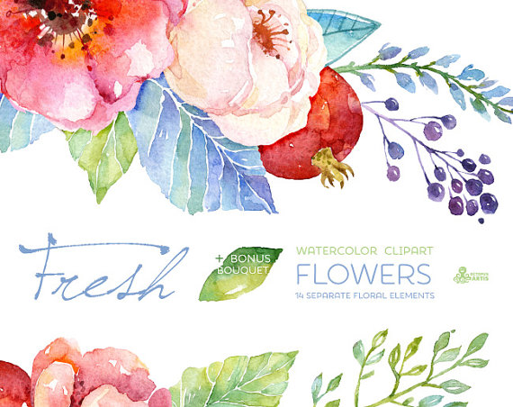 Watercolor clipart flower clipart free library Top 25 ideas about Flowers, Ya Dig? on Pinterest | Bouquet wedding ... clipart free library