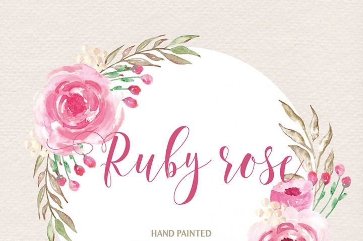 Watercolor clipart flower transparent stock Watercolor ruby rose clipart watercolor flower pink floral - Clipartix transparent stock
