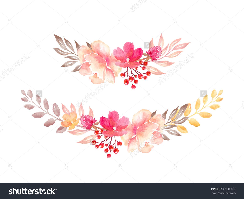 Watercolor clipart flower image royalty free download Floral Arrangement Flowers Bouquet Design Elements Stock ... image royalty free download