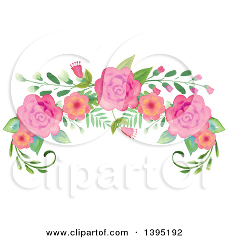 Watercolor clipart flower clip royalty free library Royalty-Free (RF) Watercolor Clipart, Illustrations, Vector ... clip royalty free library