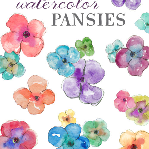 Watercolor clipart flower clip art library stock Watercolor Clipart Flowers clip art library stock