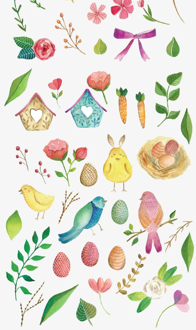 Watercolor clipart free small animals vector freeuse Small Fresh Beautiful Watercolor PNG, Clipart, Animal ... vector freeuse