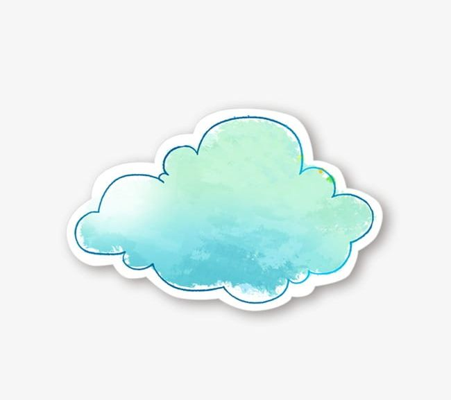 Watercolor clouds clipart image freeuse library Watercolor Blue Clouds PNG, Clipart, Blue, Blue Clipart ... image freeuse library